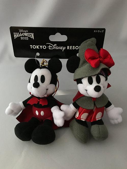 Plushie Keychain Series :Halloween Party 2015 Disneysea  Mickey & Minnie witch