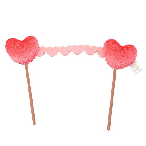 Plushie Series: Disney ufufy Accessories Series- Valentine pink love stick