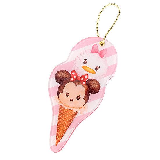 Ball Ring Keychain Collection- Tsum Tsum Ice-cream - Minnie& Daisy Mirror