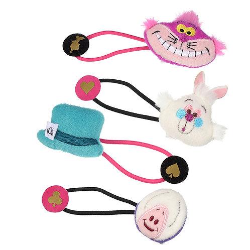 Elastics Decoration Series : Alice In Wonderland Friends Hair Bobbles Set