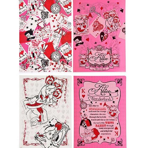 Alice in Wonderland Red card File set (4 pc/Set )