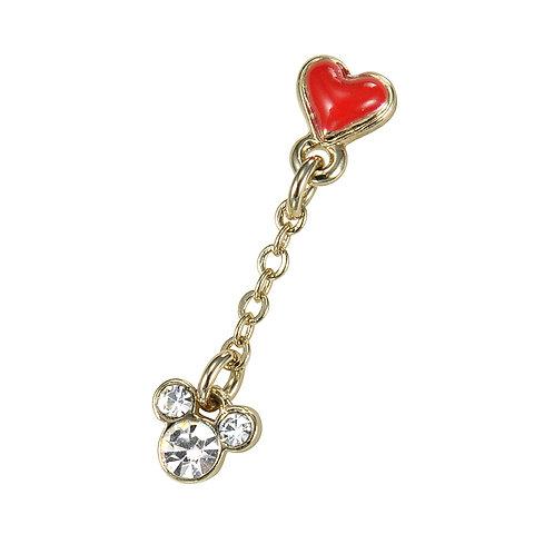 Single Earring series - Mickey heart love