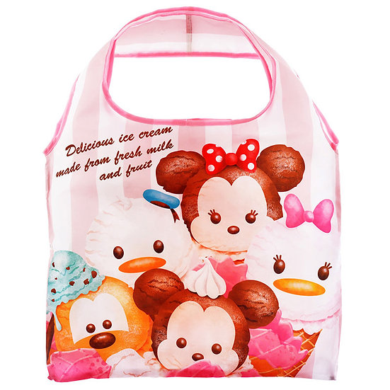 Eco Foldable Tote Bag Collection :Tsum Tsum ice-cream Mickey & Friends Tote Bag