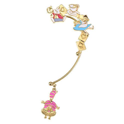 Ear Hook Earring Collection :  Alice in Wonderland Ear Hook Alice running