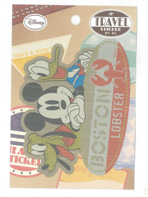 Decoration Sticker Collection - Mickey & Friend Boston Travel Decoration sticker