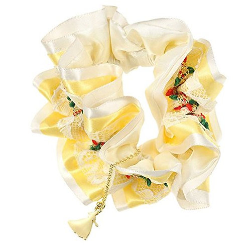 Scrunchie Hair Decoration : Beauty and the Beast Belle Garden lace Scrunchie