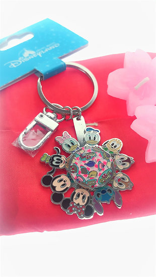 Ring Keychain collection -Mickey&Friend Dinning Fun Spinning Wheel  Key Keychain