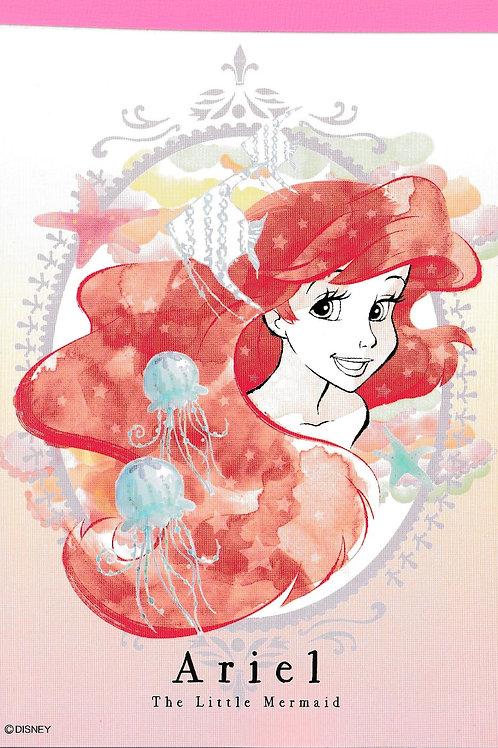 Memo Collection - A6 Memo pad Disney Little Mermaid Ariel Sketch