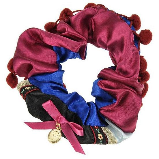 Scrunchie Hair Decoration : Frozen Anna Traditional Red Scrunchie