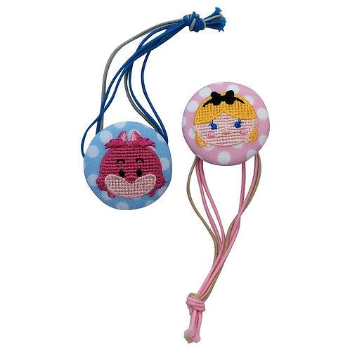 Disney Tsum Tsum Button : Alice & Cheshire Button Strip