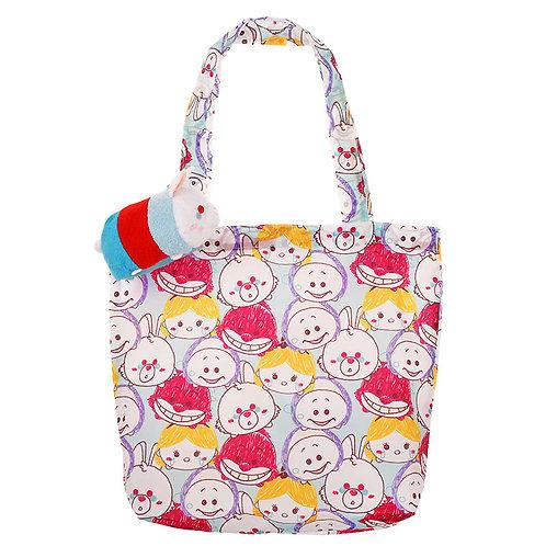 Tote Eco Bag Plushie  - TSUM TSUM Alice in wonderland Rabbit