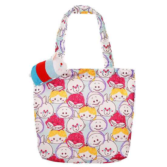 Tote Eco Bag Plushie  - TSUM TSUM Alice in wonderland Rabbit