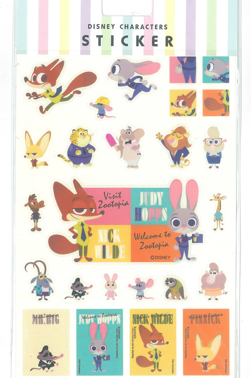 Disney Characters Sticker Collection - Zootopia Sticker