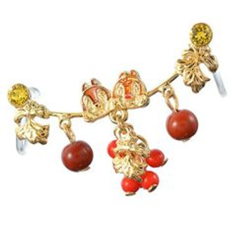 Ear Hook Earring Collection : Chip and Dale leaves and berries Ear Hook