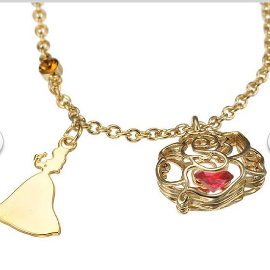 Crystal Stone Necklace series - belle and rose crystal stone necklace