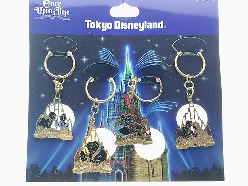 Ring Keychain Set -Tokyo Disneyland Once Upon a Dream Keychain Collection