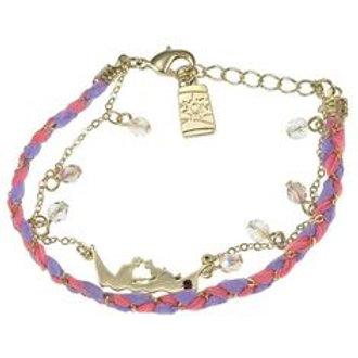 Princess Bracelet Series : Rapunzel embroidery Shiny stone Bracelet