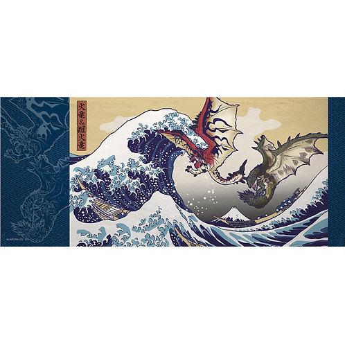 Towel Series - RATHALOS AND RATHIAN X FUGAKU ft  UKIYO-E Monster Hunter Towel