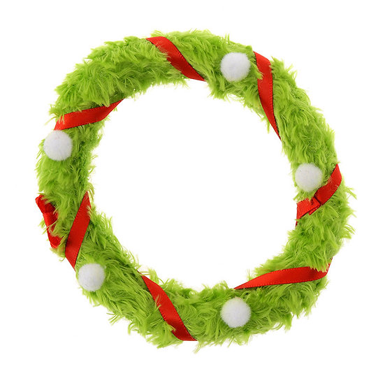 Plushie Series: Disney ufufy Accessories Series- Christmas Wreath Green