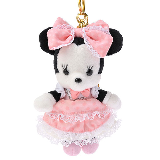 Plushie Keychain Series : Minnie pink girl  maid Style plushie Keychain