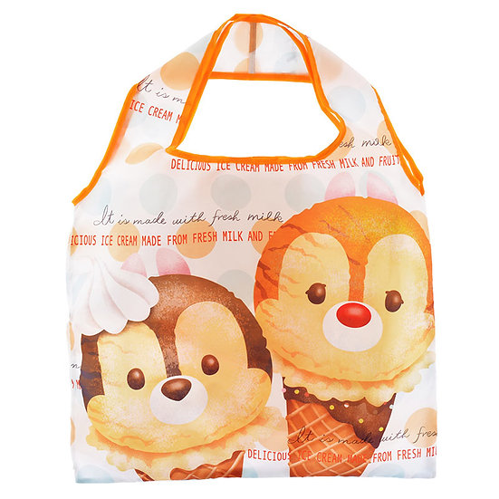 Eco Foldable Tote Bag Collection : Tsum Tsum ice-cream Chip & Dale Eco Tote Bag