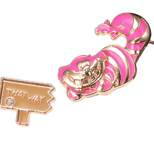 Alice in wonderland Cheshire - this way earring