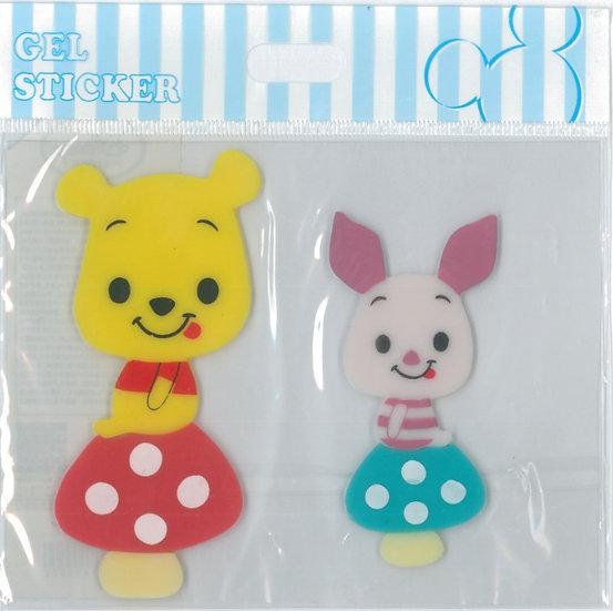 Wall sticker collection - Pooh & Piglet Transparent Gel Form wall sticker