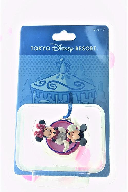 Strip Keychain Collection - Disneyland Park Mickey and Minnie Love Cup Keychain