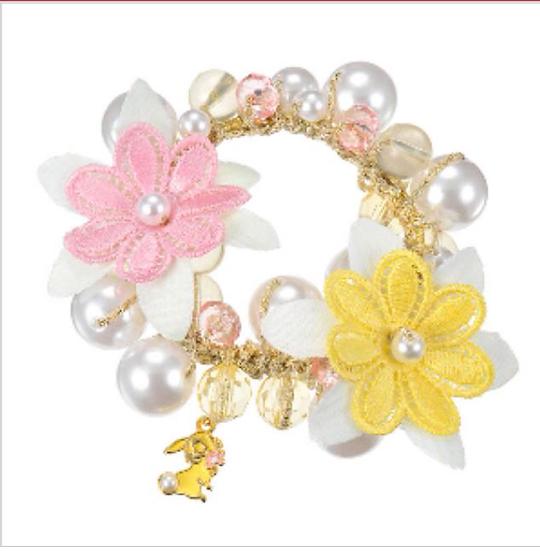 Elastics Decoration Series : Pearl Flower Miss Bunny Sweet Bobbles