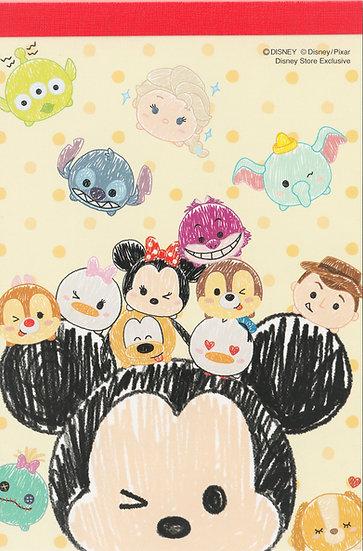 Memo Collection - A6 Memo pad Disney Tsum Tsum Mickey and Friends Sketch