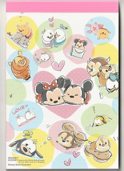 cMemo Collection - A6 Memo pad Disney Tsum Tsum Mickey and Friendship