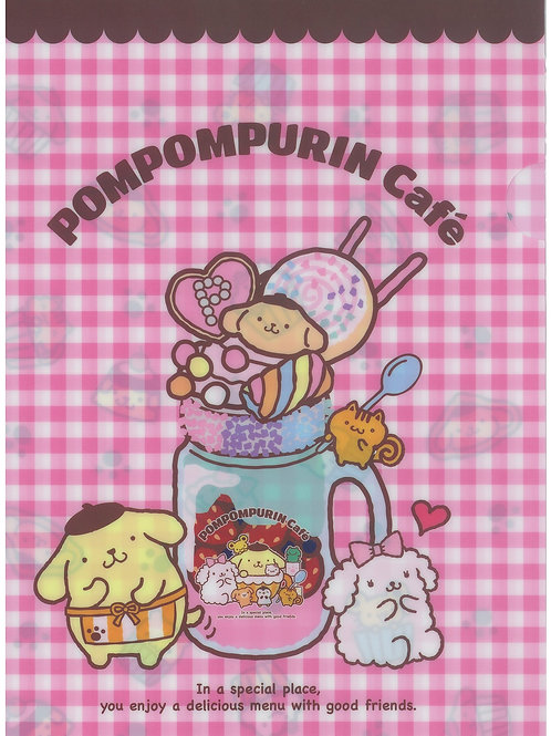 File Series : Exclusive  Sanrio PomPompurin Cafe Limited Edition Collection File