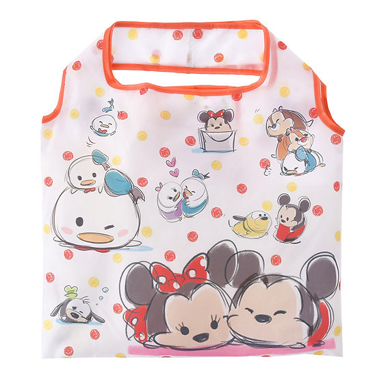 Eco Foldable Tote Bag Collection :Tsum Tsum Sketch Mickey & Friends Tote Eco Bag