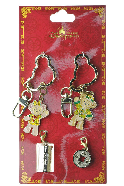 Ring Keychain Collection -Hong Kong Disneyland Duffy & Shellie May lucky Charm