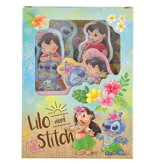 Sticky Pad Series:Lilo & Stitch Door Tropical Flower Summer  Memo Sticky Pad Box
