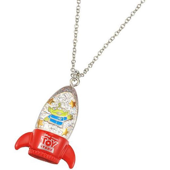 Toy story : alien in the rocket spaceship necklace