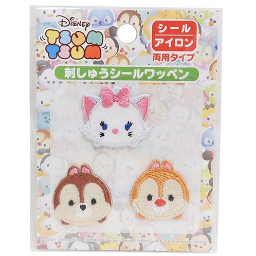 Embroidery DIY Sticker Collection - Tsum Tsum Marie Cat / Chip & Dale Tsum Tsum