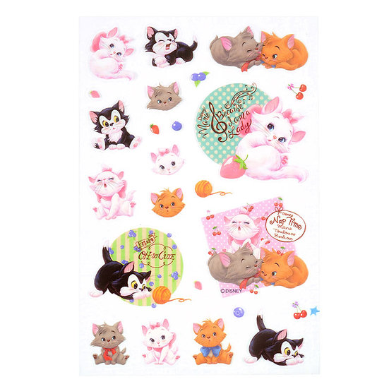 Disney Characters Sticker Collection - Marie Cat and Friends