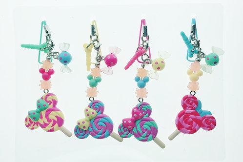 Strip Keychain Set -Tokyo Disneyland Minnie Sweet Candy Keychain Collection