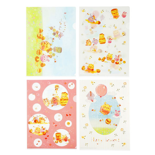 File Collection - Disney ufufy Winnie the Pooh Hunny Day File Set (4pc)