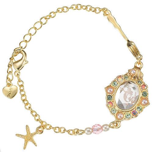 Bracelet series :  The Mermaid Ariel Glass Brooch Bracelet