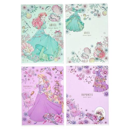 File Set Series: 4 PC Disney Ariel and Rapunzel Romantic Dress File Set
