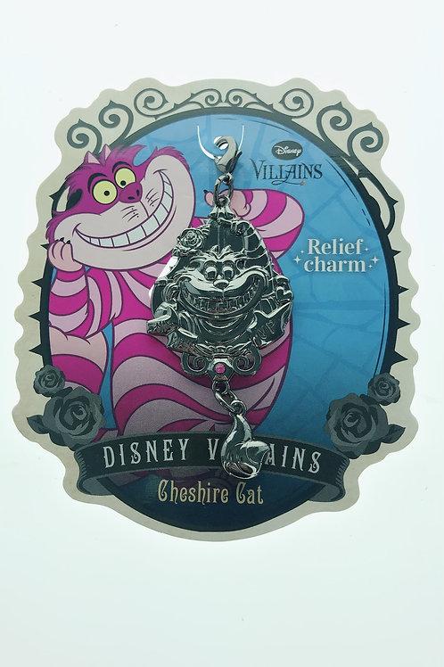 Lobster clasp keychain - Villains Relief Charm Alice in Wonderland Cheshire