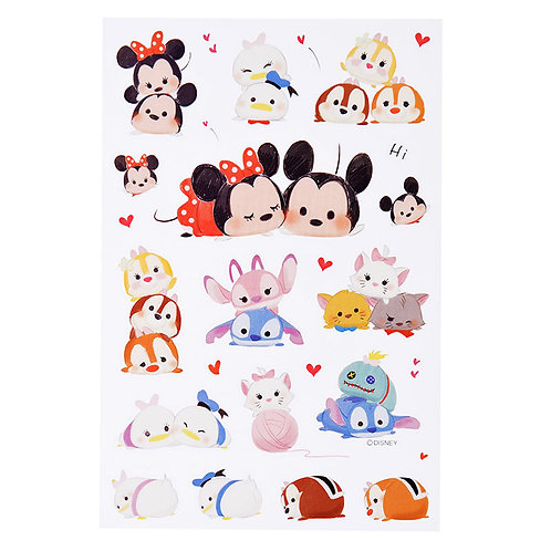 Disney Characters Sticker Collection - Tsum Tsum Love and Joy Sticker