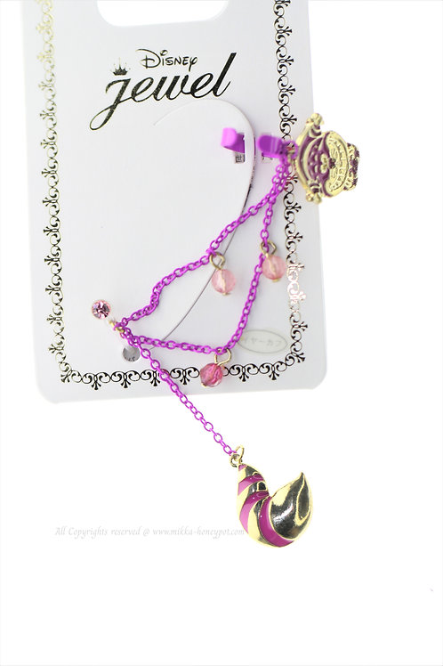 Ear Hook Earring Collection : Alice in Wonderland Cheshire Pink Ear Hook Clip