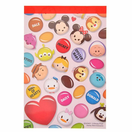 Memo Collection - A6 Memo pad Disney Tsum Tsum Mickey and Friends Chocolate fun