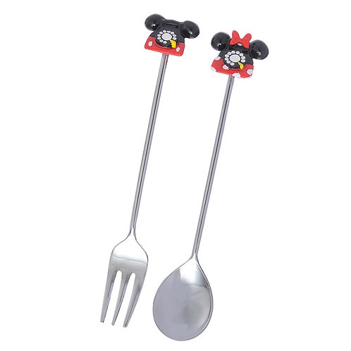 Ring Ring Ring Series Home Decor - Mickey & Minnie Spoon &Fork