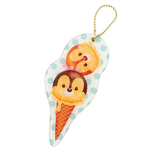 Ball Ring Keychain Collection -  Chip & Dale Tsum Tsum Ice-cream Mirror Keychain