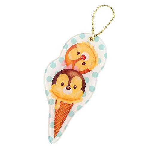Ball Ring Keychain Collection -  Chip & Dale Tsum Tsum Ice-cream Mirror Keychain