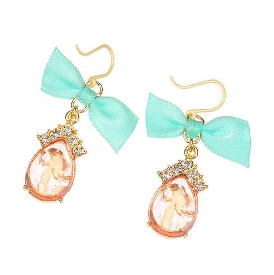 Earring Collection : The little mermaid teardrop diamond earring